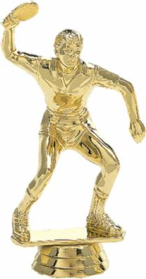 "Gold 4 1/2"" Male Table Tennis Ping Pong Trophy Figure"