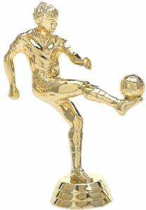 "4 1/2"" Soccer Kicker Male Trophy Figure Gold"