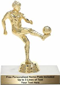 "5 1/4"" Soccer Kicker Male Trophy Kit"