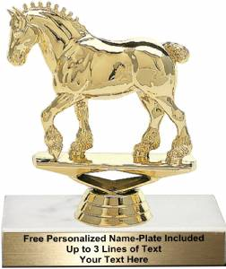 "4 3/4"" Draft Horse Trophy Kit"