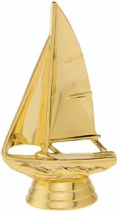 "4"" Sailboat Trophy Figure Gold"