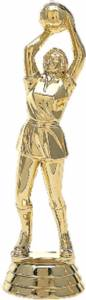 "4 1/2"" Netball With Skirt Female Trophy Figure Gold"