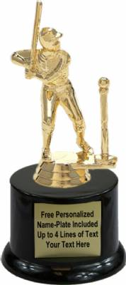 "5 3/4"" T-ball Batter Male Trophy Kit with Pedestal Base"