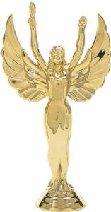 "5 1/2"" Victory Female Trophy Figure Gold"