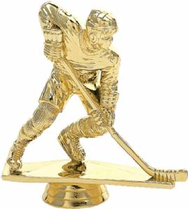 "4 1/2"" Action Hockey Male Trophy Figure Gold"
