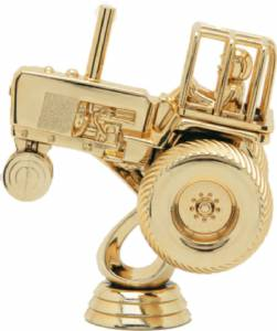 "4 1/2"" Tractor Pull Trophy Figure Gold"