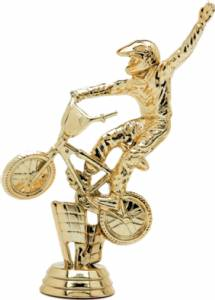 "5"" Bicycle Bmx Dirt Bike Trophy Figure Gold"