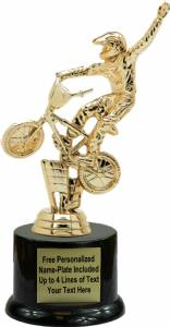 "7"" Bicycle Bmx Dirt Bike Trophy Kit with Pedestal Base"