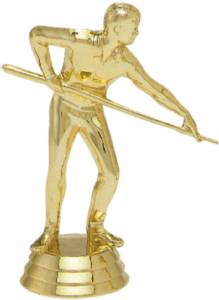 "4"" Pool Shooter Male Trophy Figure Gold"