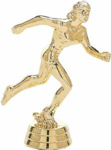 "4"" Track Female Trophy Figure Gold"