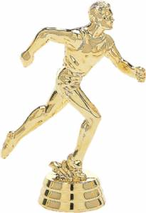 "4"" Track Male Trophy Figure Gold"