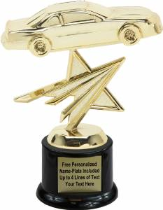 "6"" Stock Car Star Trophy Kit with Pedestal Base"
