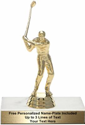 "4 3/4"" Golfer Male With Club Trophy Kit"