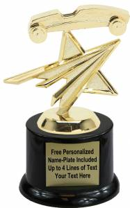 "5"" Pinewood Derby Star Trophy Kit with Pedestal Base"