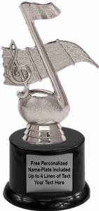 "6 1/4"" Music Note Trophy Kit with Pedestal Base"