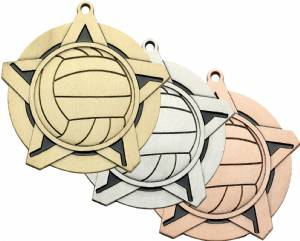 "2 1/4"" Super Star Series Volleyball Award Medal"