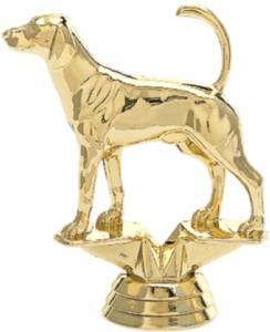 "4"" Fox Hound Trophy Figure Gold"