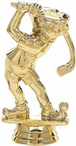 "4"" Comic Golfer Male Trophy Figure Gold"