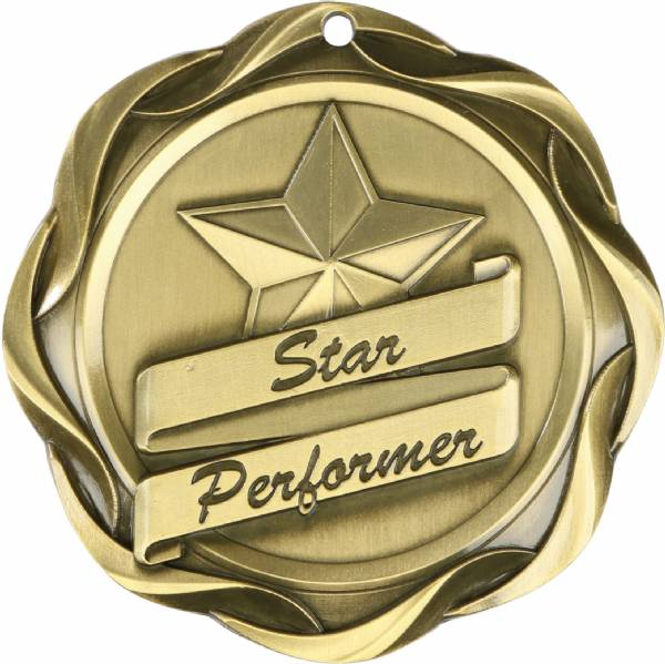 "3"" Star Performer - Fusion Series Award Medal Gold"