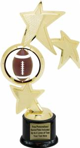 "10"" Football Spinner Trophy Kit with Pedestal Base"