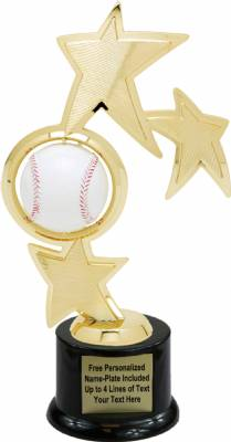 "10"" Baseball Spinner Trophy Kit with Pedestal Base"