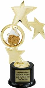 "10"" Cheerleader Spinner Trophy Kit with Pedestal Base"