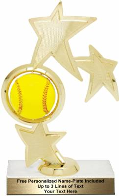"8 3/4"" Softball Spinner Trophy Kit"