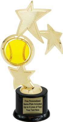 "10"" Softball Spinner Trophy Kit with Pedestal Base"