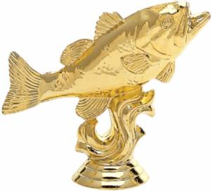 "3 3/8"" Bass Trophy Figure Gold"