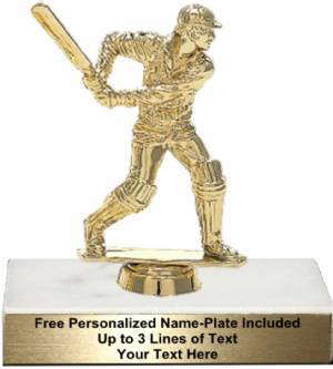 "3 3/4"" Cricket Batsman Trophy Kit"