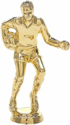 "3 1/4"" Rugby Male Trophy Figure Gold"