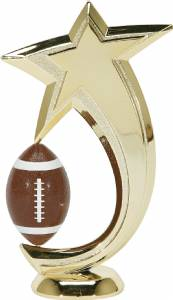 "6"" Football Shooting Star Spinning Trophy Figure"