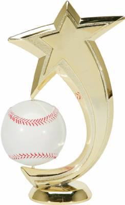 "6"" Baseball Shooting Star Spinning Trophy Figure"