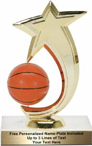 "6 3/4"" Basketball Shooting Star Spinning Trophy Kit"