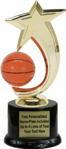 "8"" Basketball Shooting Star Spinning Trophy Kit with Pedestal Base"