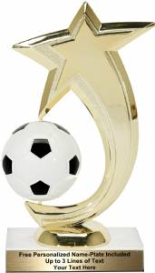"6 3/4"" Soccer Shooting Star Spinning Trophy Kit"