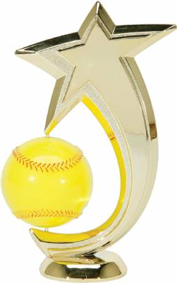 "6"" Softball Shooting Star Spinning Trophy Figure"