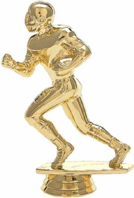 "5"" Football Runner Trophy Figure Gold"