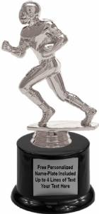 "7"" Football Runner Male Trophy Kit with Pedestal Base"