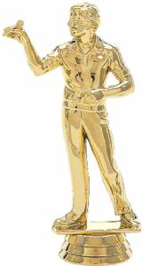 "5"" Dart Thrower Male Trophy Figure Gold"