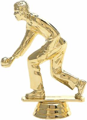 "4 1/2"" Lawn Bowler Male Trophy Figure Gold"
