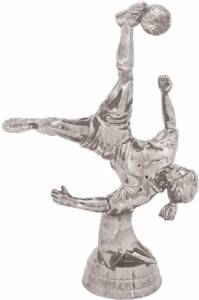 "5 1/2"" Action Soccer Female Trophy Figure Silver"