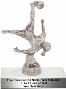 "6 1/4"" Action Soccer Female Trophy Kit"