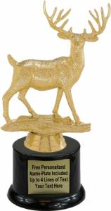 "7 1/4"" Buck Deer Trophy Kit with Pedestal Base"