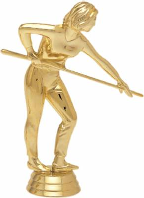 "5 1/4"" Pool Shooter Female Trophy Figure Gold"