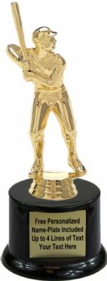 "7"" Softball Male Trophy Kit with Pedestal Base"