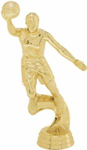 "6"" Action Basketball Female Trophy Figure Gold"