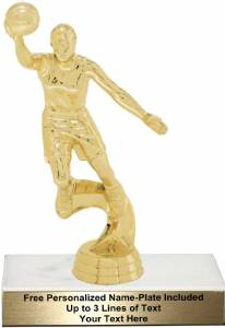 "6 3/4"" Action Basketball Female Trophy Kit"