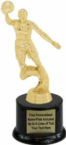 "8"" Action Basketball Female Trophy Kit with Pedestal Base"