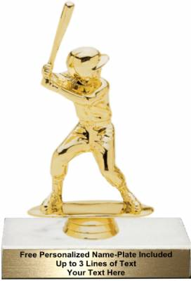 "5 3/4"" Junior Softball Female Trophy Kit"